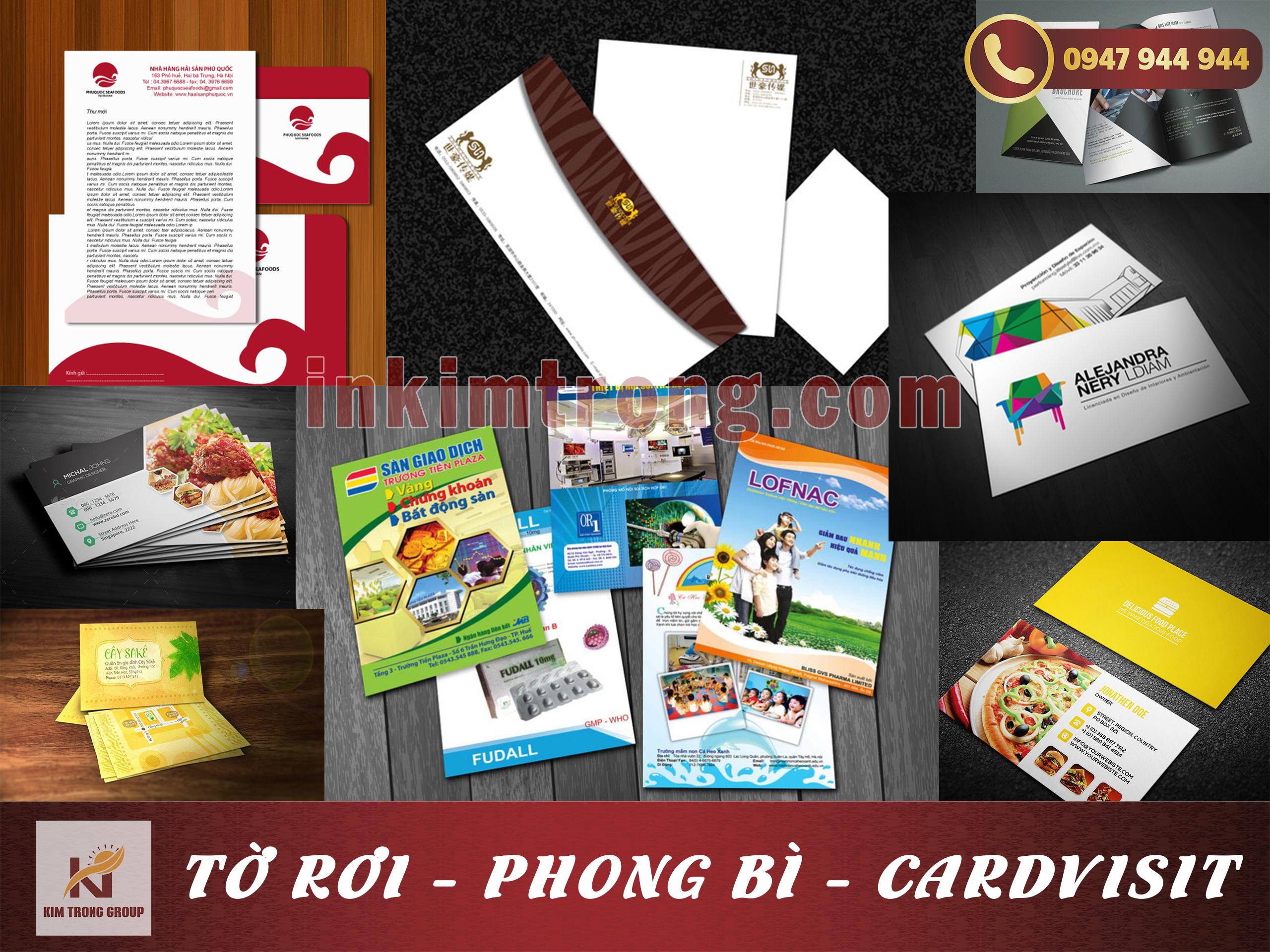 Cardvisit - Phong bì - Tờ rơi
